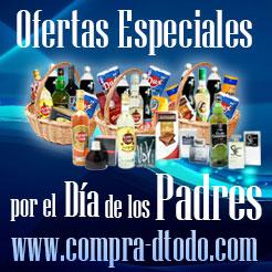 Banner alegórico a ofertas especiales por el Día de los Padres