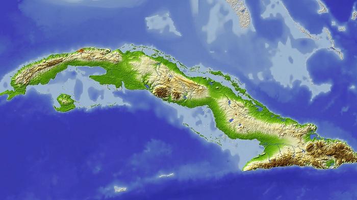 0220 Mapa fisico de Cuba