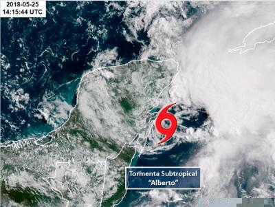 Trayectoria de Tormenta Subtropical Alberto