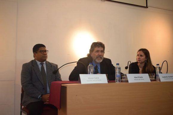 Abel Prieto en su visita a Belgica 580x386
