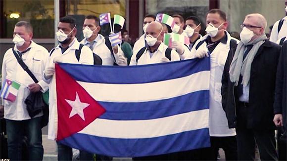 Brigada medica cubana italia covid junio 2020