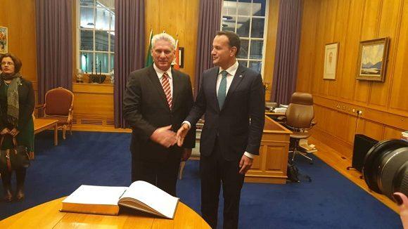 Primer ministro Leo Varadkar recibió esta tarde al presidente cubano Miguel Díaz-Canel