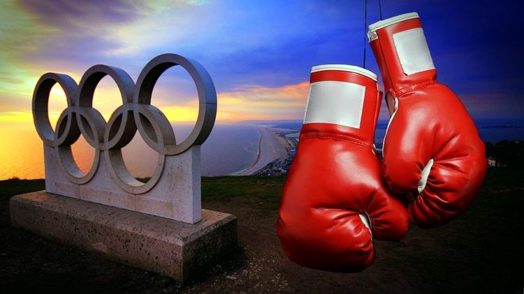 anillos olimpicos guantes boxeo