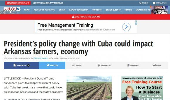 contra poliitca de Trump hacia Cuba en Arkansas