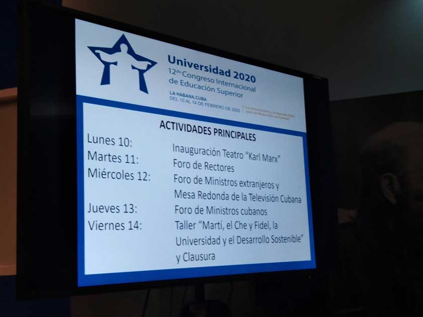 XII Congreso Internacional de la Educación Superior, Universidad 2020