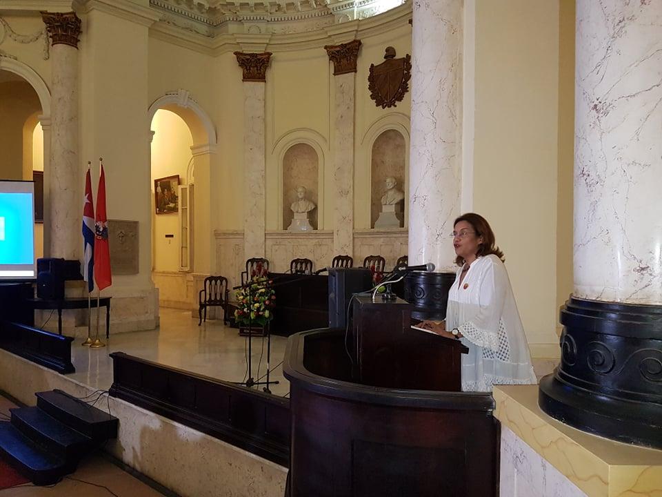 Ministra de Ciencia, Tecnología y Medio Ambiente, Elba Rosa Pérez Montoya