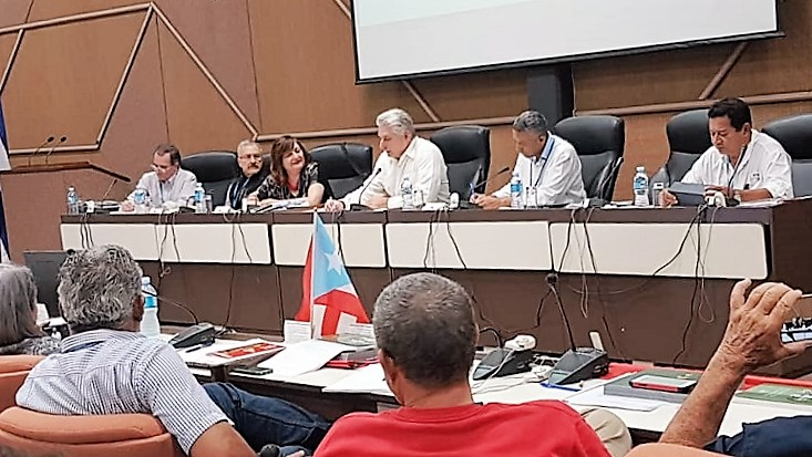 Diaz-Canel attends the Sao Paulo Forum Working Group Meeting