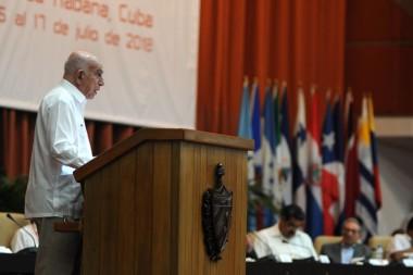 José Ramón Machado Ventura en la clausura del XXIV Encuentro del Foro de Sao Paulo.