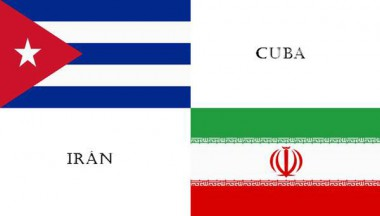 Banderas de Cuba e Irán