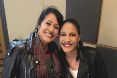 Haydée Milanés y la folclorista mexicana Lila Downs