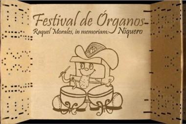 Cartel del festival de órganos musicales Raquel Morales In Memoriam