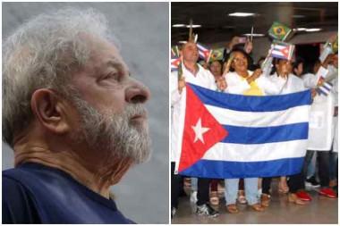 Luiz Inácio Lula da Silva y médicos cubanos