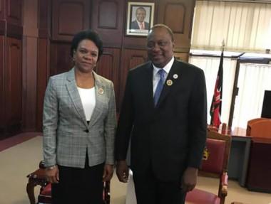 Presidente de Kenya se reúne con la vicetitular del Consejo de Ministros de Cuba