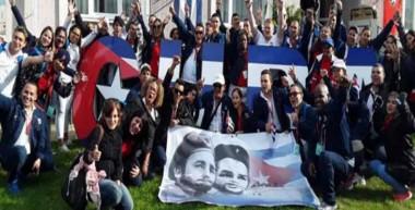 Delegación cubana que participó en festival juvenil de Sochi