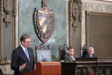Presidente de Serbia impartió conferencia en la Universidad de La Habana