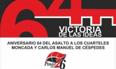 Imagen alegórica a la celebración del 26 de julio en Pinar del Río
