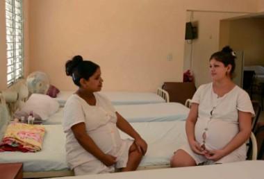 Embarazadas en el Hogar Materno de la ciudad de Florida, Camaguey