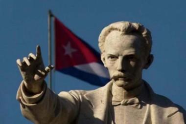 Imagen de José Martí y la bandera cubana