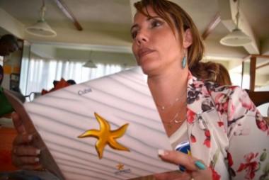 Cliente cubana del turismo nacional