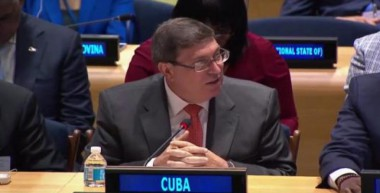 Canciller Bruno Rodríguez ante la ONU