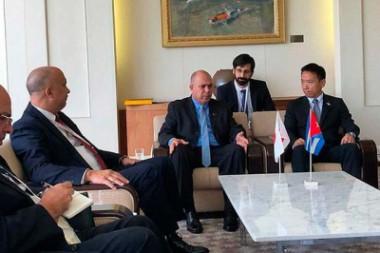 Vicepresidente de Cuba dialoga con más dirigentes en visita a Japón