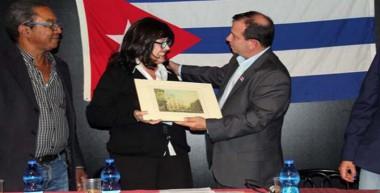 En el encuentro participó el héroe cubano Fernando González, presidente del ICAP