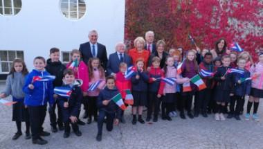 Presidente de Irlanda recibe a su homólogo de Cuba, Díaz-Canel