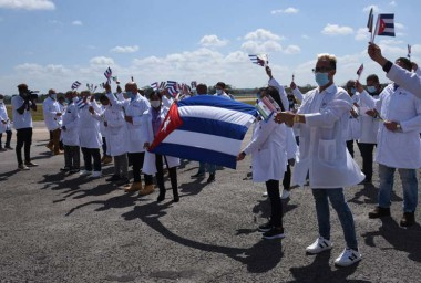 brigada médica que colaboró en México