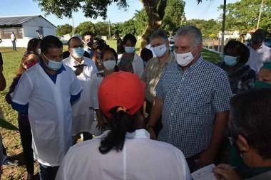 presidente Miguel Díaz-Canel visita la Isla de la Juventud