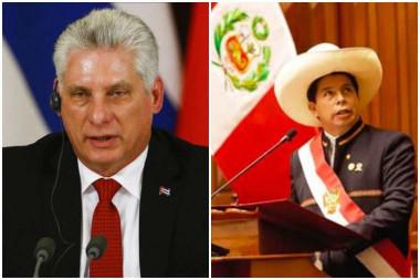 Presidente de Cuba felicita a Pedro Castillo de Perú