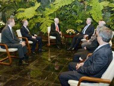 Recibió Díaz-Canel al Copresidente de la Iniciativa Cuba del Reino Unido