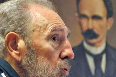 Imágenes de Fidel y Martí