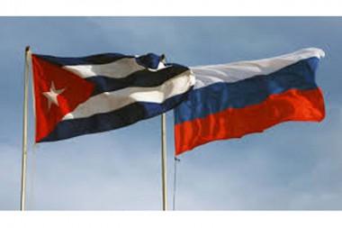 Banderas de Rusia y Cuba