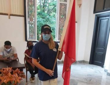 Momentos del abanderamiento Jóvenes por la vida en el municipio Habana Vieja. Foto: Mirelys del Pilar/Radio COCO.