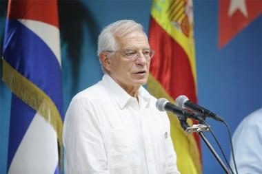 canciller de España, Josep Borrell, Foto: Twitter @CubaMINREX