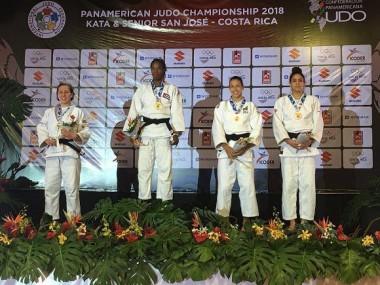 Maylín del Toro se confirma como una de las figuras más sólidas del equipo femenino de Cuba. Foto: Federación Costarricense de Judo.