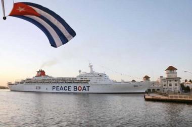 Barco de la Paz llega a Cuba