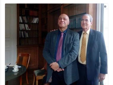 Ministro de Educación Superior, José Ramón Saborido Loidi, sostuvo una reunión con Georges Haddad, Presidente de la Universidad
