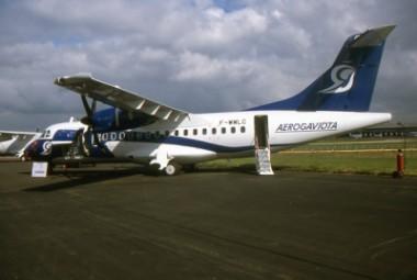 Avión de la empresa aérea Aerogaviota