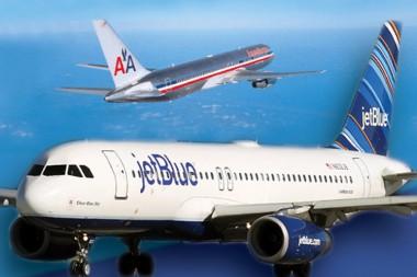 Avión de la aerolínea estadounidenses Jetblue
