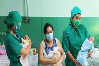 Cuba: Nacen trillizas por fertilización in vitro en Cienfuegos