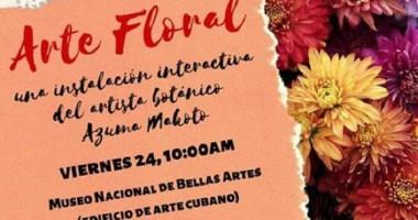 Exposición Arte floral este sábado en Bellas Artes