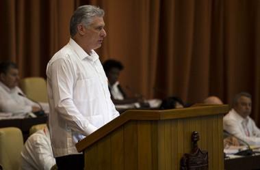 Miguel Díaz-Canel, Presidente de los Consejos de Estado y Ministros en el Primer Periodo Ordinario de Sesiones de la IX Legislatura de la Asamblea Nacional