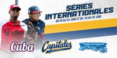 Cuba contra Capitales de Quebec, en liga Can-Am de béisbol