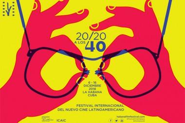 cartel del 40 Festival de cine de La Habana
