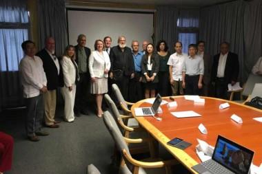 Delegados del Centro de Neurociencias de Cuba, Canadá y China.