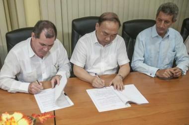 Firma de convenio Cuba - China