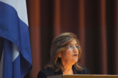 Elba Rosa Pérez Montoya, titular del Ministerio de Ciencia, Tecnología y Medio Ambiente