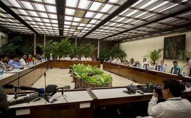 Conversaciones entre el gobierno de Colombia y el ELN, en La Habana, Cuba. Foto: Ismael Francisco/ Cubadebate.