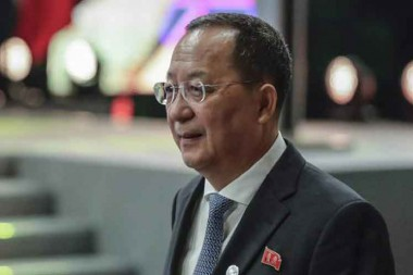 El ministro de Relaciones Exteriores de la República Popular Democrática de Corea, Ri Yong Ho